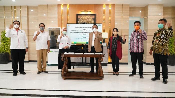 PT Pegadaian (Persero) bersama Kamar Dagang Industri Indonesia (KADIN) DKI Jakarta menjalin kolaborasi untuk pemberdayaan anggota Usaha, Mikro, Kecil dan Menengah (UMKM) sebagai agen Pegadaian.