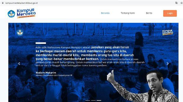 Screenshot kampusmerdeka.kemdikbud.go.id