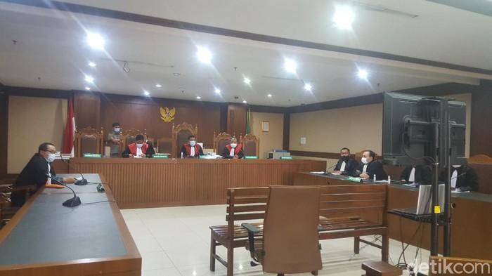 Suasana sidang penyuap Edhy Prabowo terkait kasus ekspor benur (Zunita/detikcom)