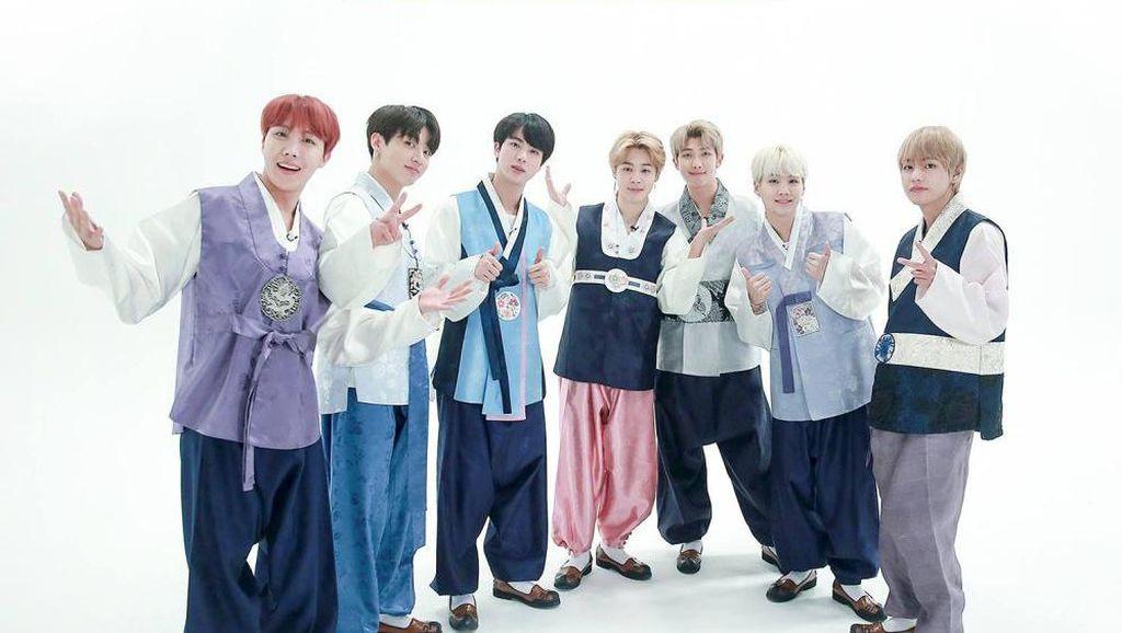 Intip 8 Gaya BTS Pakai Hanbok Saat Imlek dari Debut Hingga 2021