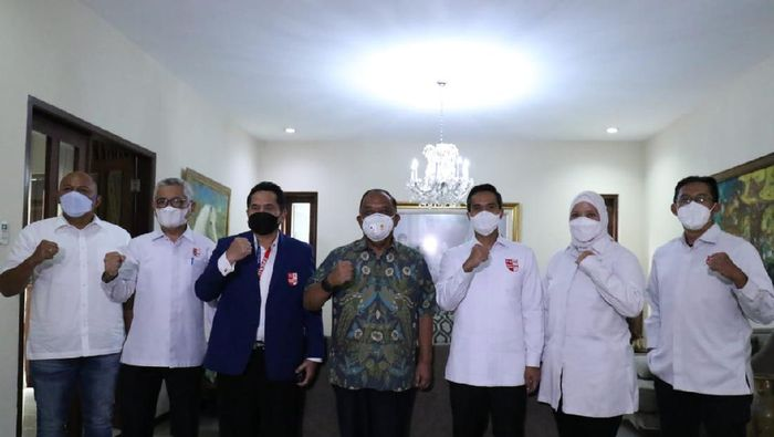 Ketum PRSI Anindya Bakrie bertemu KONI Pusat, Kamis (11/2/2021)