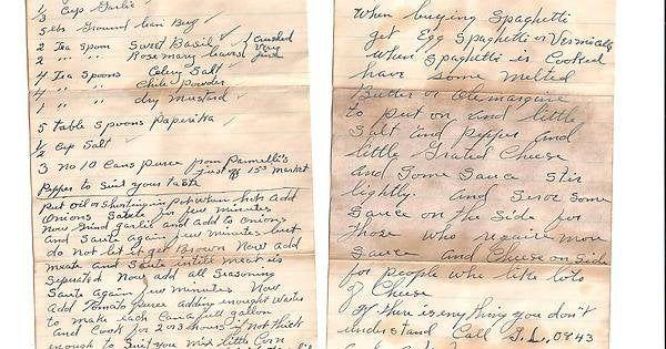 Pemilik Rumah Ini Temukan Resep Pasta Tahun 1947 di Garasinya