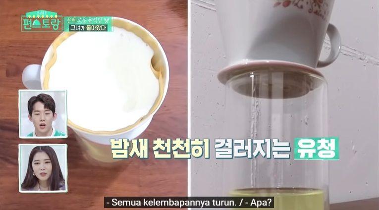 cara makan yogurt ala yoon eun hye