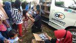 Keseruan Bersama Anak-anak Korban Banjir Karawang