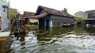 2 Pekan Banjir Berwarna Hitam di Kudus, Warga Pakai Air Hujan untuk Minum
