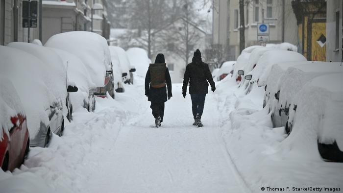 Salju menutup beberapa wilayah di Jerman