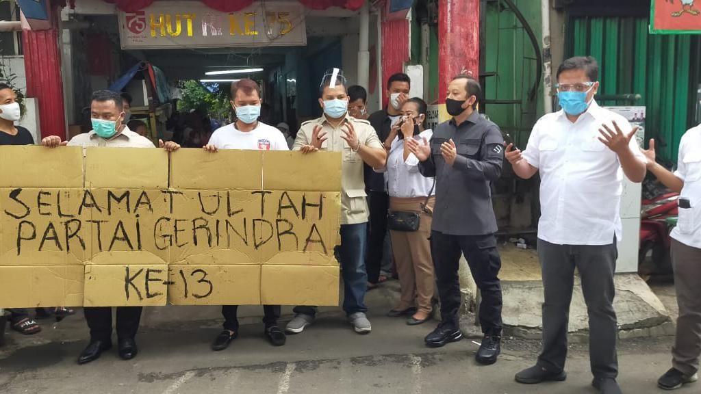 HUT Gerindra, Habiburokhman-Adnan Taufik Gelar Operasi Bantu Rakyat