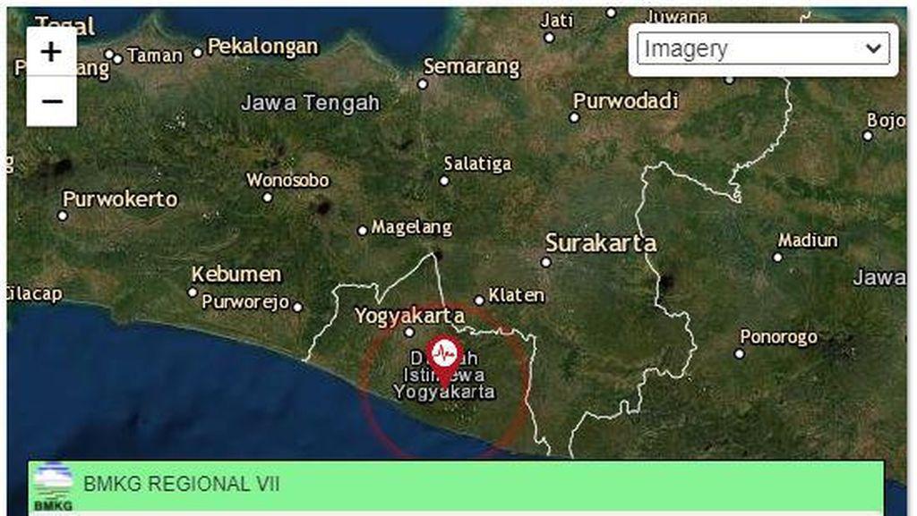 Gempa Darat M 1,5 Terjadi di Wonosari Gunungkidul