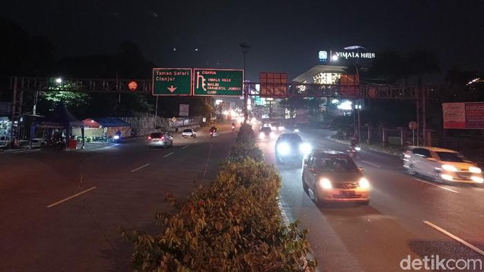 Kondisi Kawasan Puncak Bogor malam ini