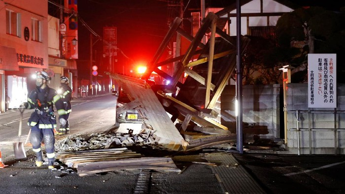 Penampakan Fukushima Jepang Usai Diguncang Gempa M 7,1 (Kyodo News via AP)
