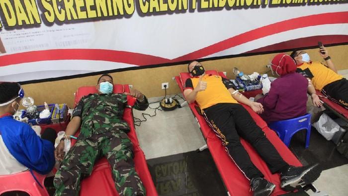 Polisi Bandara Soekarno-Hatta Donor Plasma Konvalesen