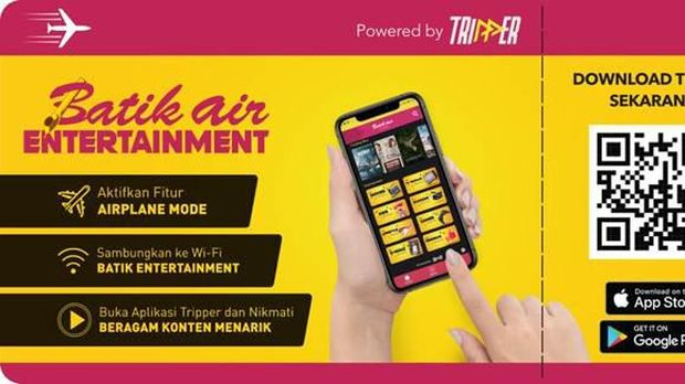 Aplikasi In-flight entertainment baru Batik Air