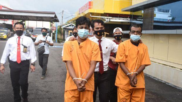 Dua pria jaringan bandar narkoba Riau ditangkap di Musi Banyuasin, Sumsel. Sabu seberat 513 gram atau senilai Rp 250 juta disita (dok Istimewa)