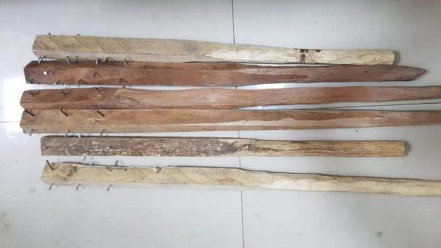 Enam orang ditetapkan sebagai tersangka perusakan. Kasus diawali dari bentrok dua ormas di Rokan Hulu, Riau (dok Istimewa)