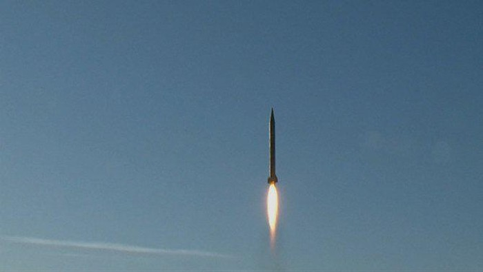 """Iran conducts multiple ballistic missile tests in what it said is a display of """"deterrent power,"""" defying US sanctions aimed at disrupting its missile program. (File/AFP)"""