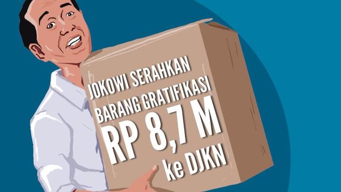 Jokowi Serahkan Barang Gratifikasi