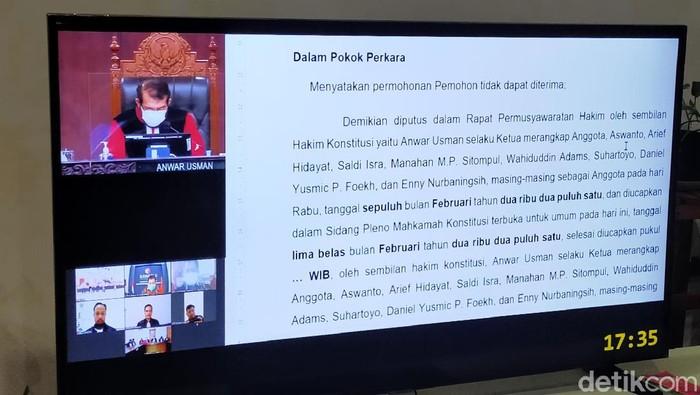 Mahkamah Konstitusi Tolak Gugatan PHP Yusuf-Riza