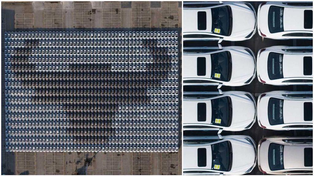 Mobil China Diparkir Berbentuk Kerbau Logam