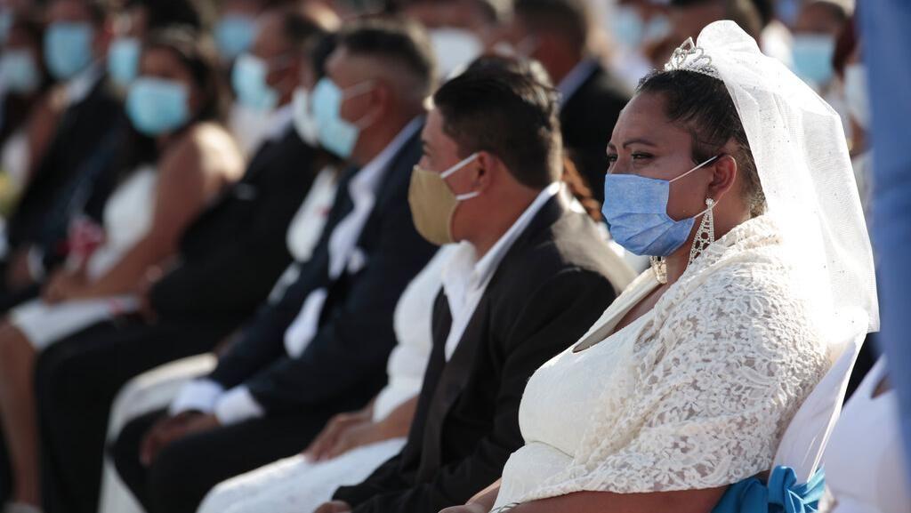 Momen 400 Pasangan di Nikaragua Nikah Massal saat Valentine