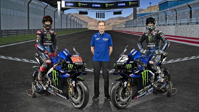 Tim Monster Energy Yamaha memperkenalkan tim di MotoGP 2021, Senin (15/2/2021).
