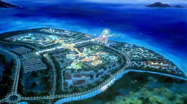 Penampakan udara Disneyland Hong Kong. Proyek yang dibangun MNC Group digadang-gadang akan sekelas Disneyland dan Universal Studio. Proyek yang melibatkan Donald Trump ini telah diumumkan sejak September 2015. Getty Images