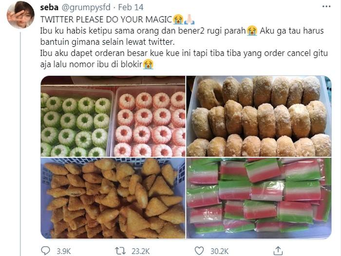 Tega! Orang Ini Tipu Ratusan Netizen dengan Jualan Kue Palsu