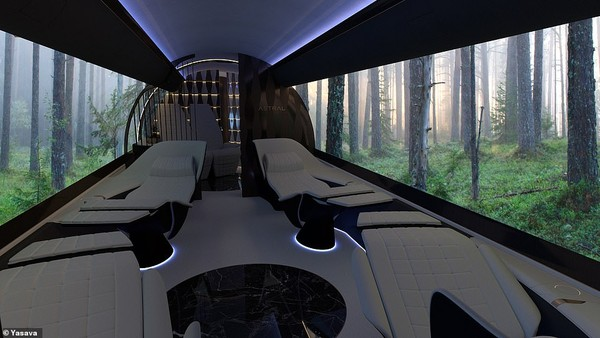 Layaknya bioskop, layar OLED dapat difungsikan layaknya layar bioskop yang bisa menampilkan film hingga lanskap pilihan penumpang (Yasava)
