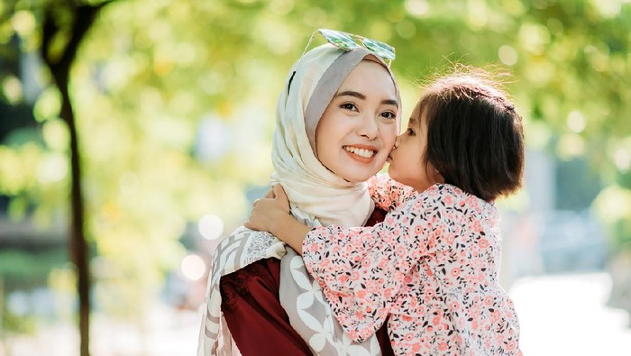 Ilustrasi keluarga muslim