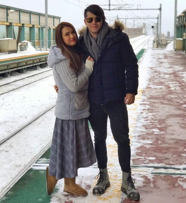Miyabi juga disamperin kekasih, Jose Sarazola, di Sapporo, Hokkaido untuk anniversary yang keempat. (Instagram)