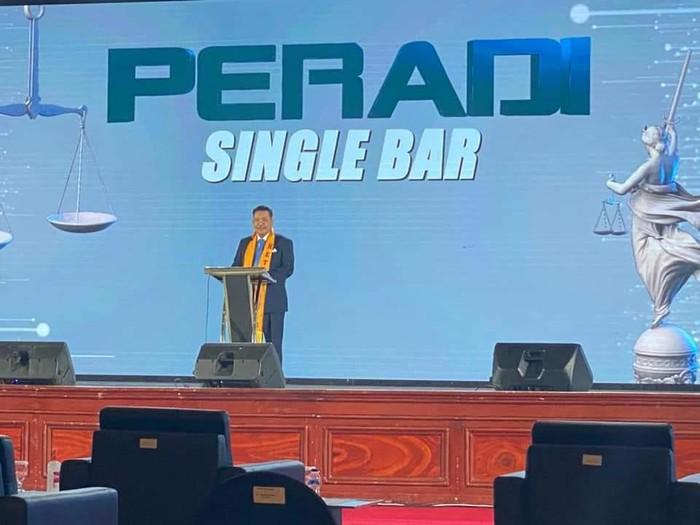 PERADI menggaungkan single bar sebagai rumah organisasi advokat