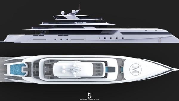 Dia memutuskan untuk menjadikan yacht sebagai tempat tinggal pemilik dan jadi fokus utama saat membuat konsep Mogul. Ia telah menyadari bahwa aspek ini sering diabaikan di kapal serupa.