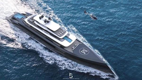Di sisi lain, seorang selebgram mendesain sebuah superyacht dan memutuskan untuk menjadikannya sebagai tempat tinggal pemilik. Inilahfokus utama saat membuat konsep superyacht Mogul. Ia telah menyadari bahwa aspek ini sering diabaikan di kapal serupa (Foto: Bhushan Powar Design Studio)