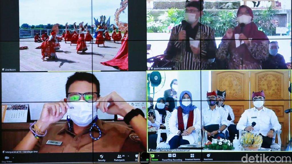 Ini Harapan Sandiaga Uno Terhadap Banyuwangi Festival 2021 Berkonsep Hybrid