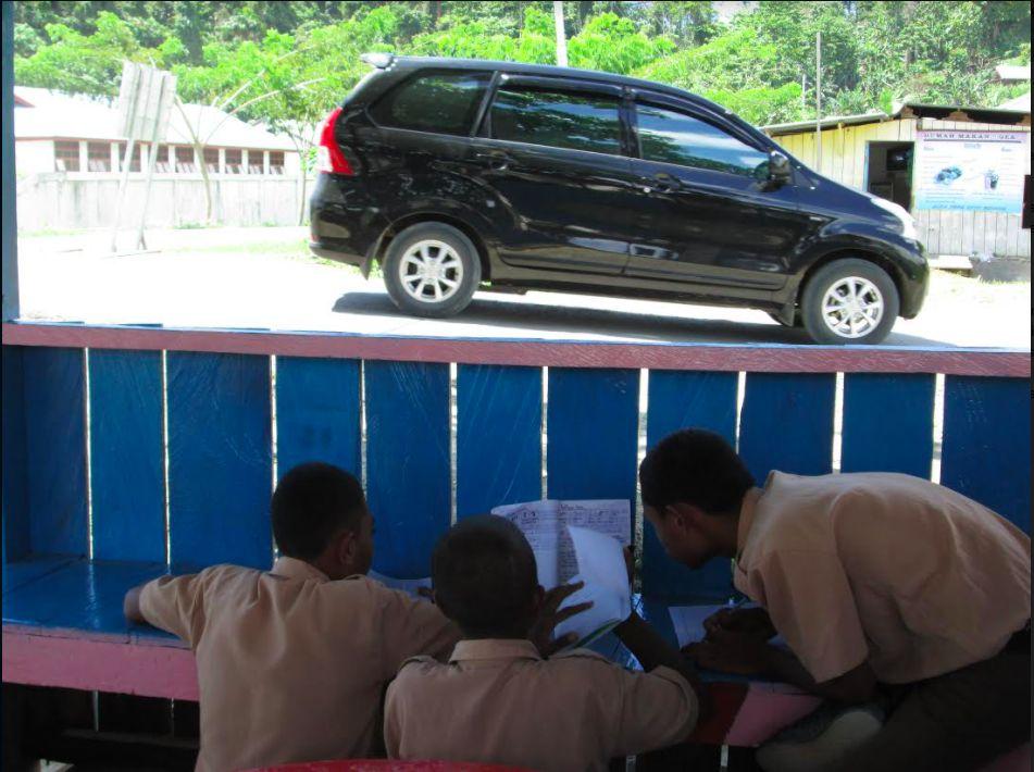 Ilustrasi mobil di Raja Ampat Papua
