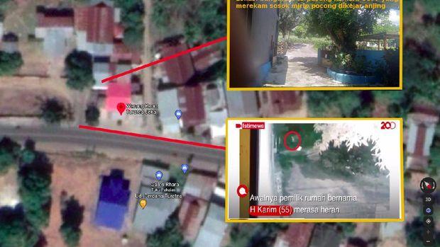 Lokasi pocong dikejar anjing di Sulsel yang viral (Foto: Istimewa)