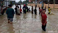 Luapan Sungai Babakan Bikin 5 Desa di Brebes Banjir