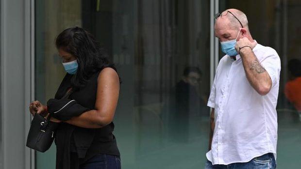 Pelanggar karantina di Singapura