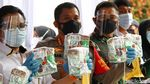 Polres Depok Musnahkan 302 Kg Sabu dari Malaysia