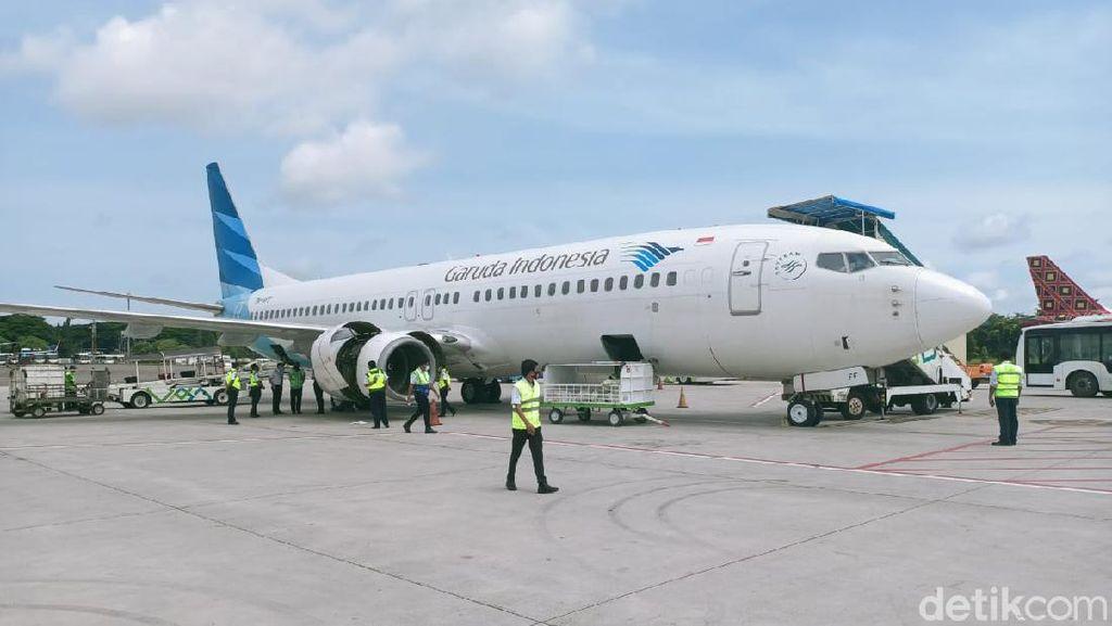 Alami Masalah Mesin, Pesawat Garuda Tujuan Gorontalo Kembali ke Makassar