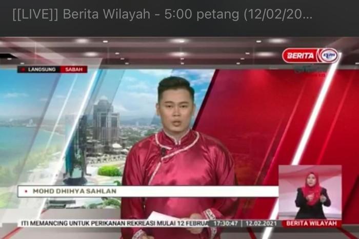 Presenter Berita Pakai Cheongsam