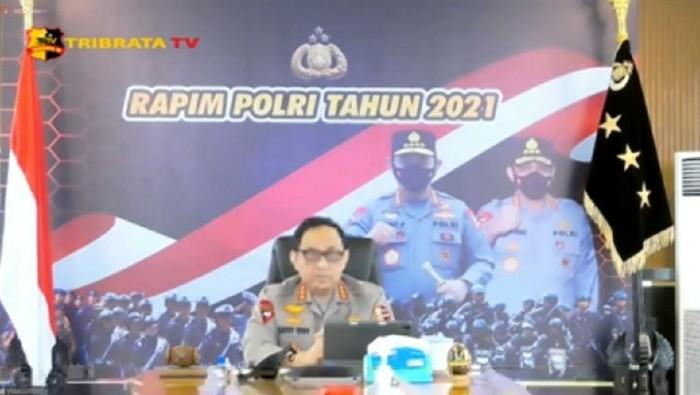 Wakapolri Hadiri Rapim Polri 2021 Secara Virtual