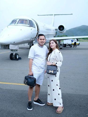 Pasangan crazy rich Malang, Gilang Widya Pramana dan Shandy Purnamasari.