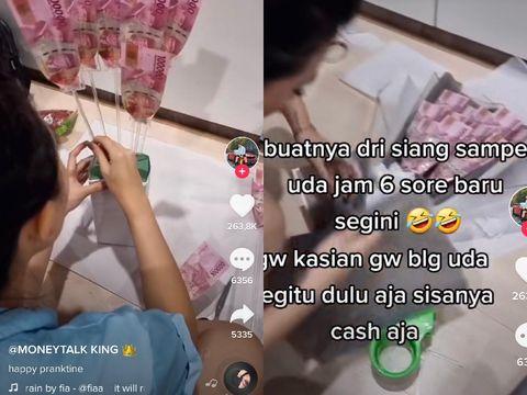 Kisah pria yang memberikan kejutan untuk pasangannya viral di TikTok.