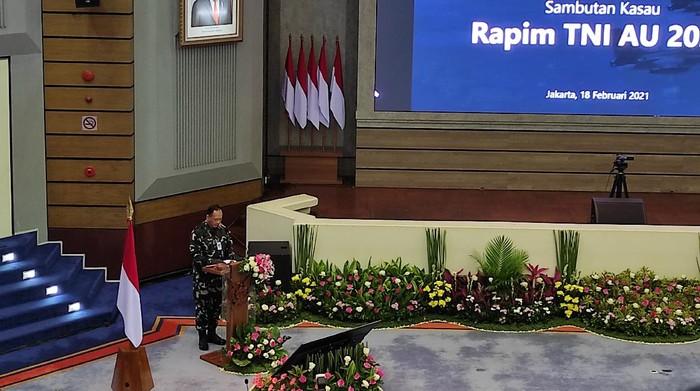 KSAU Marsekal TNI Fadjar Prasetyo saat Rapim TNI AU (Foto: Azhar/detikcom)