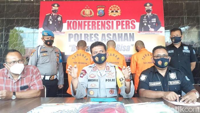 Polres Asahan mengungkap 3 kasus pencabulan terhadap anak di bawah umur yang dilakukan orang tua kandung hingga guru (Perdana Ramadhan/detikcom)