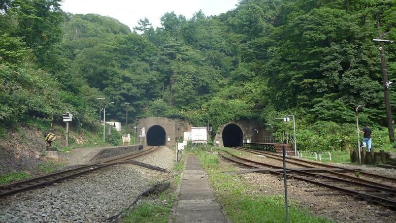 Stasiun terpencil di Jepang.