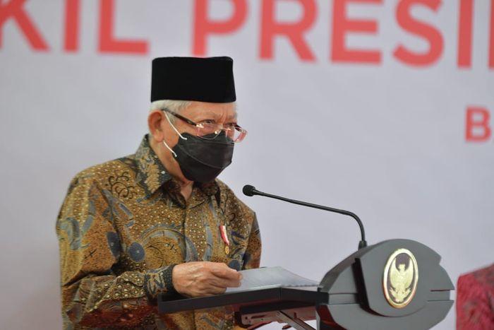 Wakil Presiden Maruf Amin di Balai Rehabilitasi Pangudi Luhur Bekasi