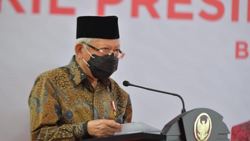Tinjau Vaksinasi Atlet, Maruf Amin: Saya Sudah Divaksin dan Sehat