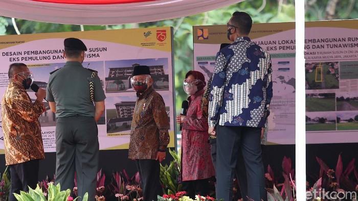 Wapres Ma'ruf Amin meresmikan Sentra Kreasi Asistensi Rehabilitasi Sosial (Atensi). Dia juga meninjau pembangunan Rusun untuk Penyandang Masalah Kesejahteraan Sosial (PMKS).