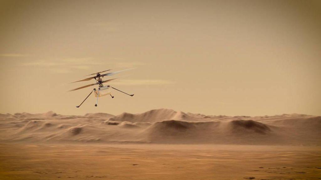 Detik-detik Helikopter NASA Melayang Perdana di Planet Mars